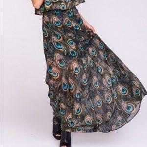 Show Me Your MuMu Princess Di Peacock Maxi Skirt